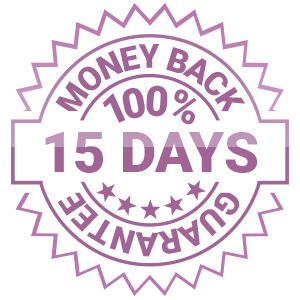 15 DAYS 100% MONEY BACK GUARANTEE
