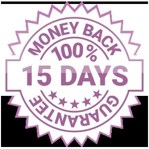 15 DAYS 100% MONEY BACK GUARANTEE