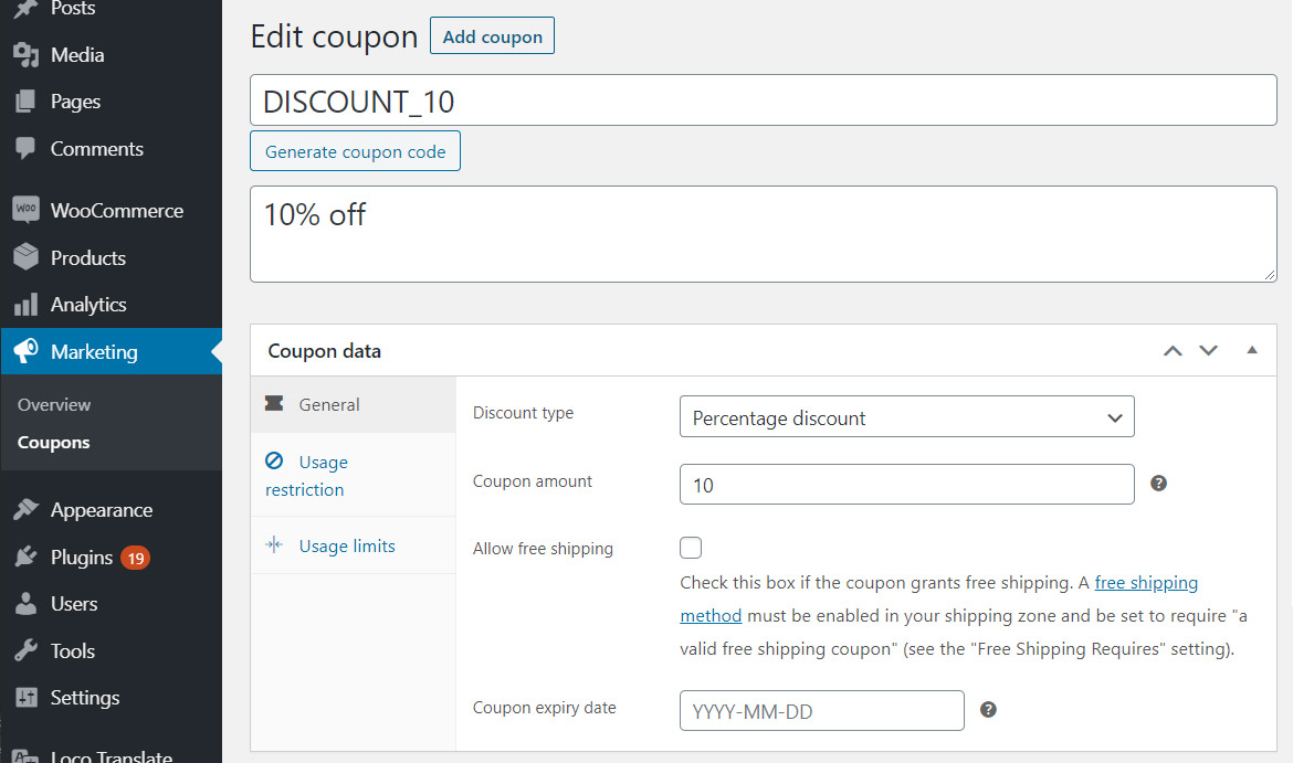 Create a dedicated coupon, for apply automatically in WooCommerce
